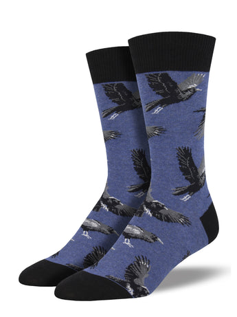 Men's Raving Ravens Socks - Blue Heather