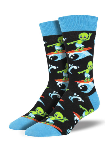 Men's Surfing The Galaxy Socks - Black