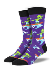 Men's Surfing The Galaxy Socks - Purple
