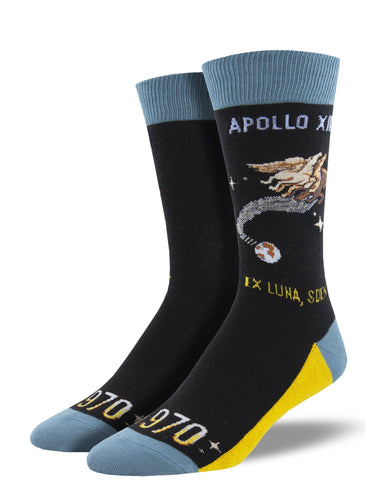 Men's Apollo Xiii Socks - Black