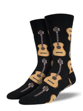 Men's Guitar Socks - Black