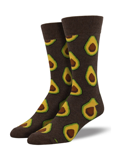Men's Avocado Socks - Brown