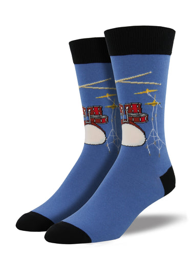 Men's Drum Socks - Blue