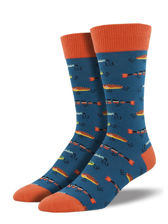 Men's Fishing Socks - Blue