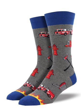 Men's Firefighter Socks - grey