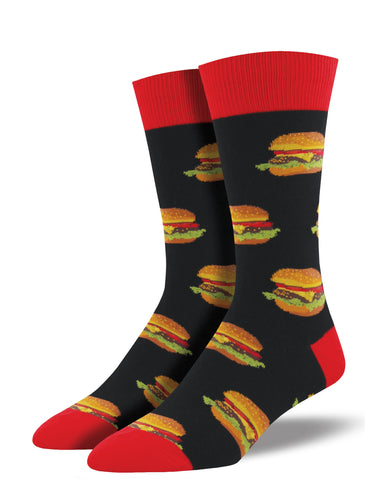 Men's Burger Socks - Black