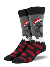 Men's Raptor Claus Socks