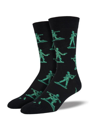 Men's Army Men Socks - Black