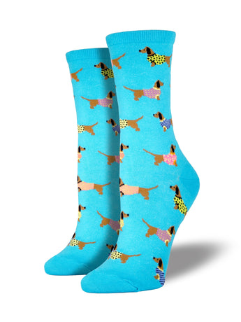Women's Haute Dog Socks - Blue