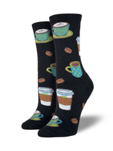 Women's Latte Socks - Black