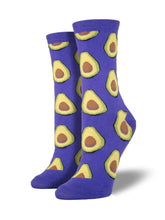 Women's Avocado Socks - Purple