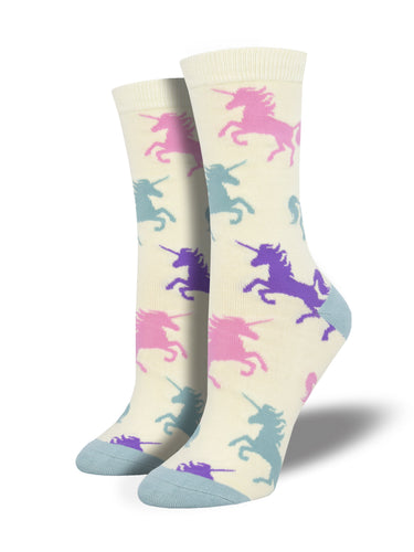 Women's Bamboo Dream Big Socks - Ivory