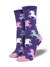 Women's Bamboo Dream Big Socks - Purple