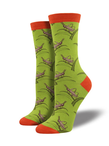 Women's Bamboo Grasshopper Socks - Green