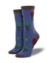 Find Women's Bamboo Hot Air Balloon Socks - Periwinkle