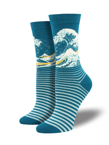 Women's Bamboo The Wave Socks - Blue