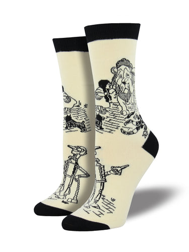 Women's Bamboo Off To See The Wizard Socks - Ivory