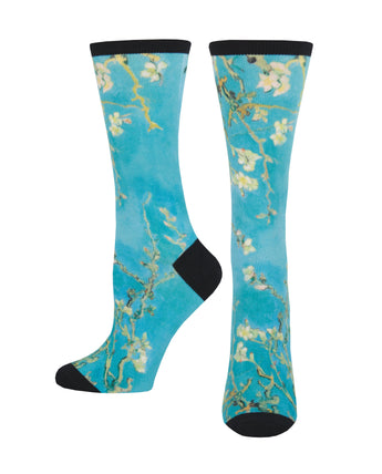 Women's 3D Almond Blossom Socks - Multi