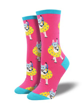 Women's Doggy Paddle Socks - Pink