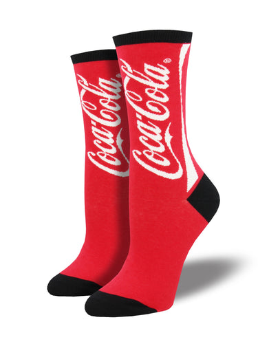 Women's Coca Cola Socks - Red