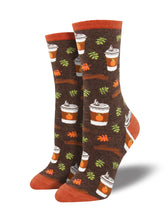 Women's Pumpkin Spice Up Your Life Socks - Brown