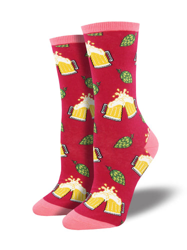 Women's Hoppier Together Socks - Pink