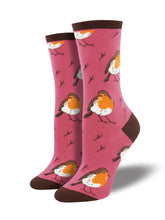 Women's Robin Your Heart Socks - Pink