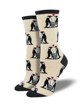 Women's Penguin Love Socks - White