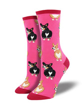 Women's Corgi Butt Socks - Pink