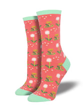 Women's Wishes In The Wind Socks - Coral