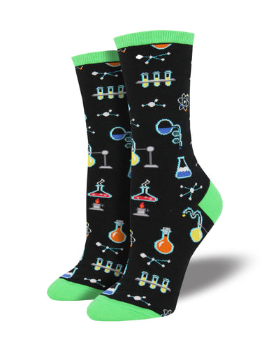 Women's All The Solutions Socks - Black