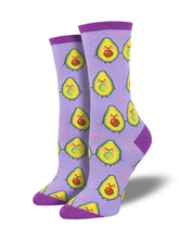Women's You Guac My World Socks -Lavender