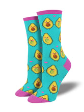 Women's You Guac My World Socks - Teal