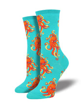 Women's Socktopus Socks - Teal