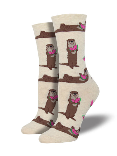 Women's Ottermelon Socks - Heather Ivory