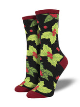 Women's Deck The Halls Socks - Black