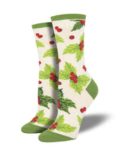 Women's Deck The Halls Socks - Heather Ivory
