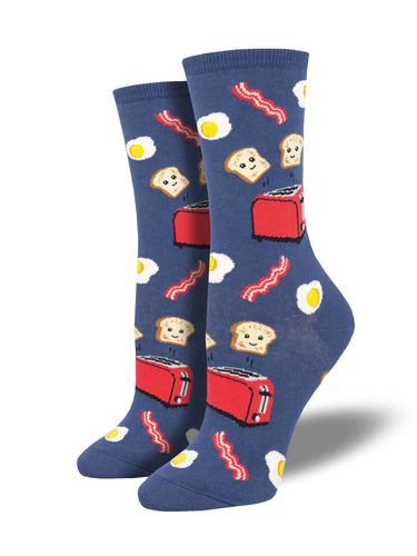 Women's Good Morning Socks - Blue