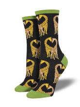 Women's Longneck Love Socks - Black