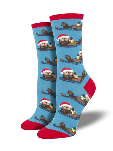 Women's Otterly Merry Socks - Blue