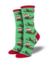 Women's Otterly Merry Socks - Green