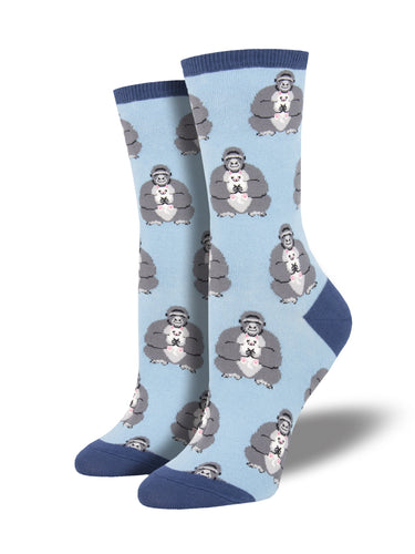 Women's Unlikely Friends Socks - Blue