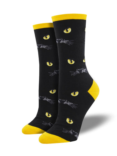 Women's Eyeing You Socks - Black