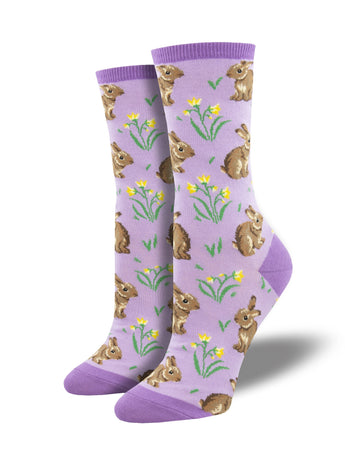 Women's Relaxed Rabbit Socks - Lavender