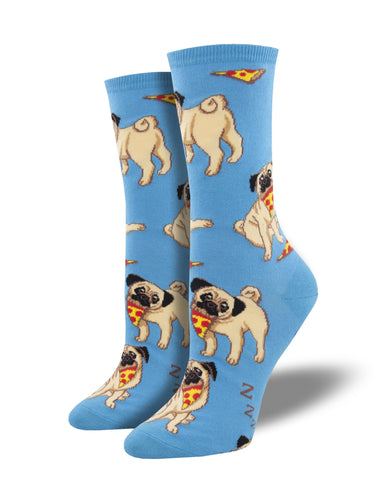 Women's Man's Best Friends Socks - Blue