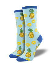 Women's Partial To Pineapples Socks - Blue