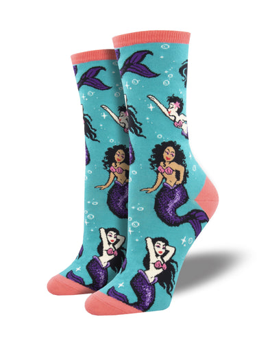 Women's Swimming With Sirens Socks - teal