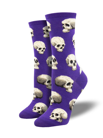 Women's Sacred Skulls Socks - Purple
