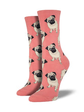 Women's Pugs Socks - Peach