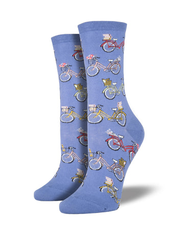 Women's Vintage Bike Socks - Periwinkle